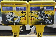 IMG_2943 rue Faidherbe Paris 11 (meuh1246) Tags: streetart paris paris11 ruefaidherbe boîteauxlettres michelange mr robot