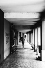 (helix.pomatia) Tags: blackandwhite bianconero blackwhite black white whiteblack biancoenero bianco nocolors lights light trip contrast contrasts nikon nero monocromo monochromatic monochrome view panorama architettura edificio allaperto architecture asymmetry symmentry sequences art vanishing point city color digital 50mm f14 nikond3100 travel happydays happiness dark portrait portraits portraiture exposure people persone geometry geometries girl travelling ritratto unknown stranger beauty street bologna italy italia april spring bw