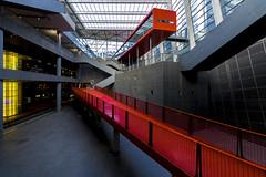 red way (Blende1.8) Tags: antwerp antwerpen station bahnhof modern contemporary red rot line lines interior indoors indoor nopeople deserted menschenleer centraalstation centraal belgium belgien carstenheyer architecture architektur modernearchitektur nikon d600 sigma1224mmhsmii wideangle linien