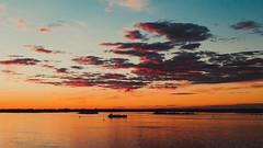 Volga (Stan One) Tags: volga river sunset ship cloud russia