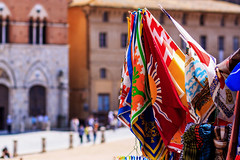 Flags of the Quarters at Sienna - Tuscany, Italy (dejott1708) Tags: flags sienna tuscany quarters contrade palio