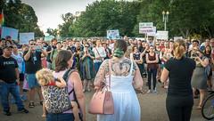 2017.07.26 Protest Trans Military Ban, White House, Washington DC USA 7655