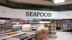 ...or did it just sail on over to Seafood? (Retail Retell) Tags: superlo foods grocery store southaven ms desoto county retail former schnucks albertsons seessels corrugated metal decor interior seesselsbyalbertsons