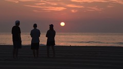 Sunrise with a Couple of Teens (secondtree) Tags: beach oceangrove jerseyshore sunrise
