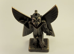 Pazuzu (lucaVdort) Tags: pazuzu statue devil satan demon evil handmade sculpture sculpey supersculpey clay wings angel london art