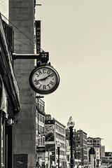 Kneeland St Mono (PAJ880) Tags: kneeland st jacob wirth buildings mono clock bw boston ma urban city
