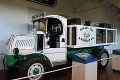 Bekins 1922 Mack flatbed truck (BarryFackler) Tags: durhammuseum unionstation museum omahanebraska indoor trainstation unionpacificrailroad railroadstation exhibit display unionpacificrr omaha bekinsmovingandstorage 1922mackflatbedtruck truck movingtruck flatbedtruck macktruck transportation vehicle commerce trishdickdavidsongallery midwest nebraska omahane educational vacation 2017 barryfackler barronfackler trunks luggage