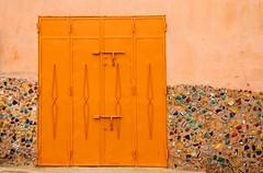 The Green Door (David K. Edwards) Tags: morocco safi ceramics door green verdant marilynchambers orange sliding