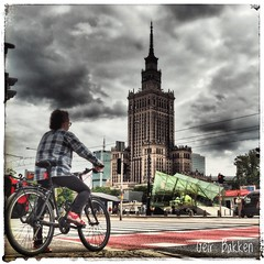 Biking in Warszawa (Geir Bakken) Tags: m43 mirrorless microfourthirds warszawa streetphotography lovelycity city bike traffic yabbadabbadoo perfectbeauty poland bestpicture