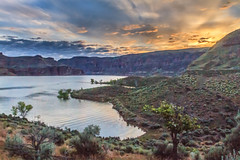 Owyhee Reservoir Sunrise (http://fineartamerica.com/profiles/robert-bales.ht) Tags: fineart flickr freshwater haybales lake oregon owhyee people photo photouploads places projects southeast stateparks states sunsetorsunrise sunsetsunrise toworkon desert nature canyon owyhee outdoors landscape remote river idaho area scenic hiking recreation eastern colorful sage cliff arid wilderness view water tranquil solitude isolated fishing geology camping beautiful valley tourism rocky range volcanic flyfishing publicland malheur western mountains natural sagebrush shrublands succor robertbales dam sunset panoramic reservoir sunrise statepark