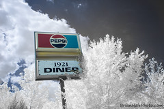 Pepsinfrared (Brian M Hale) Tags: halespectrum pepsi old vintage sign antique diner 1921 boylston shrewsbury rt140 rt route 140 infrared ir infra red full spectrum lifepixel color unique ma mass massachusetts brian hale brianhalephoto usa newengland new england outside outdoors different claudettes claudette