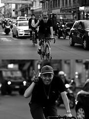 [La Mia Città][Pedala] Vittoria (Urca) Tags: milano italia 2017 bicicletta pedalare ciclista ritrattostradale portrait dittico bike bicycle nikondigitale scéta biancoenero blackandwhite bn bw 102651 vittoria