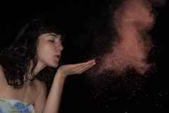 star dust (spiderfrank) Tags: night portrait girl ritratto notte polvere dust
