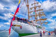 Gloria, Colombian Navy's Tall Ship (Brooks Payne) Tags: arcgloria brooks brooksbos boston tallship sail sailing boat ship colombia water seaport geotagged sony rx100 rx100m2