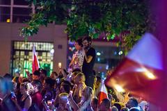 _MG_8585 (Sakuto) Tags: chainoflight poznan protest poland people street night