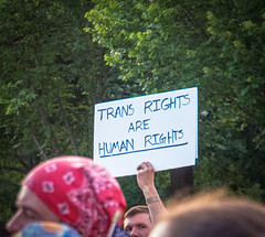 2017.07.26 Protest Trans Military Ban, White House, Washington DC USA 7625