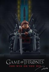 Lego Game of Thrones (storm TK431) Tags: thrones lego gameofthrones eddard stark iron hbo minifigure ironthrones legoironthrone legoironthrones