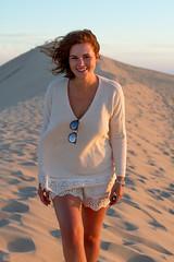 Lea (Sarah Joy L.) Tags: girl photography photoshoot model woman canon canon7d 50mm dune france nature sunset pilat arcachon bordeaux summer portrait portraitphotography travel sand beach ocean
