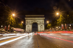 Arc de Triomphe in the City of Lights (Photography by Mike Elias) Tags: parisatnight paris france europe travel travelphotography canon t2i nightphotography lightstream cityoflights city arc de triomphe