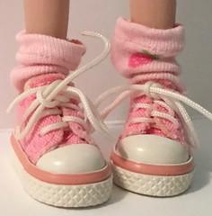 Strawberry Pink...Short Socks For Blythe...