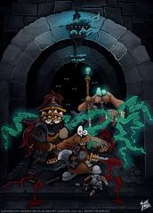 Halls of the Dead (MightyZandor) Tags: illustration cartoon comic webcomic fantasy sword sorcery magic rabbits pug warrior mage dungeon adventure