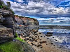 Warden head south III (elphweb) Tags: hdr highdynamicrange nsw australia wardenheadsouth headland beach rocky rocks rockformation cliff sea ocean water coast coastal skies sky cloud clouds
