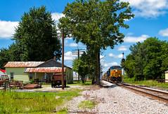 Butlerville, IN (Wheelnrail) Tags: csx indiana subdivision locomotive railroad ge train trains rail road butlerville rural farm midwest classic bo cpl signal signals