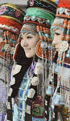 Mongolian Mosaico (by zurera) Tags: digital hd art collage retratos portraid zurera people fotomontaje image autoretratos mosaic