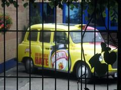 Unilever's Love/Hate Marmite Taxi, Burton-on-Trent (Diego Sideburns) Tags: burtonupontrent burtonontrent marmite love hate taxi londontaxi unilever