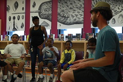 Artsit workshop: Max Bent (Young Audiences MD) Tags: summerlearning summer summerreads maxbent beatboxing library westport music songwriting math creativewriting