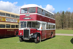 A long way from home. (steve vallance coach and bus) Tags: dek3d leylandtitan massey wigancorporation southeastbusfestival detling preserved