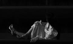 Waiting Game (coollessons2004) Tags: krystalsmith blackandwhite elegant mystery