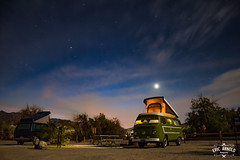 Death Valley VW Camping (Eric Arnold Photography) Tags: star starry night camp camping vw volkwagen bus kombi westy westfalia vanagon camper poptop death valley national park furnace creek ca california sea level below canpground long exposure canon t3i 2014 outdoor sky deathvalley