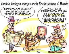 "ErdoDarwin (Moise-Creativo Galattico) Tags: editoriali moise moiseditoriali ""editorialiafumetti"" giornalismo attualità satira vignette erdogan turchia darwin evoluzionismo fanatismo jihad"