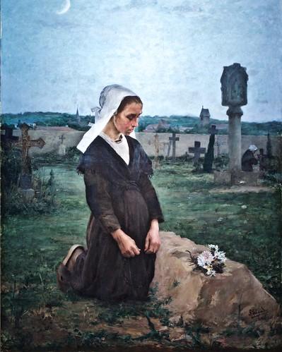 At the cemetery (1890) - José Veloso Salgado (1864-1945)