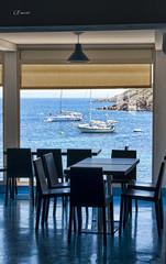 La vita.... (Giacomo Pasca) Tags: estate sardegna asinara mare barche ristorante azzurro sedie interni restaurant chairs sailboats skyblue sea