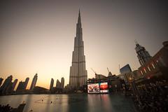 Burj Khalifa at sunset (tesKing (Italy)) Tags: abudhabi burjkhalifa dubai sunset emiratiarabi uae emiratiarabiuniti ae