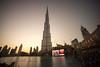 Burj Khalifa at sunset (tesKing (Italy)) Tags: abudhabi burjkhalifa dubai sunset emiratiarabi emiratiarabiuniti