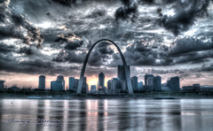 Saint Louis Gateway Arch (Jimmy Harmon) Tags: arch cityscape skyline cityskyline hdr longexposure saintlouis stlouis mississippiriver