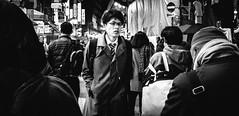 A contre courant (tokidokiyuki) Tags: foule crowd bw nb blackwhite noirblanc contre sens people japanese japon japan tokyo ueno street streetshot rue