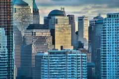 Blue Tone City (chantsign) Tags: lowermanhattan light reflection sunset newyorkcity colors sky clouds tone telephoto blue hdr