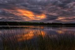 Early morning on the Columbia River (SethReamsPDX) Tags: landscape portlandoregon columbiariver marinedrive pdx sethreams nikon nikond3400 sunrise clouds orange