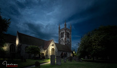 St Andrews Church..... (inkslinger15) Tags: church clouds farnham gravestones lee sky standrews surrey blue light street lamps