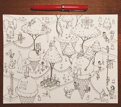 Ice Cream (sketch) (Junkyard Sam) Tags: art drawing sketch fountain pen ice cream fountainpen icecream