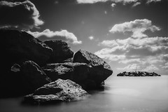 Pile ON (R*Wozniak) Tags: blackwhite bw blackandwhite black lakemichigan landscape lake nikon nikond750 20mm longexposure shutter contrast