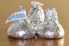 Kisses - Three (-SOLO--) Tags: three kisses hersheys chocolate macromondays 7dwf macro closeup bokeh