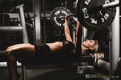 Steph - Bench Press [5D4_4239-2] (GammyKnee) Tags: female fitness workout lifestylefitness gym strong bench press training woman
