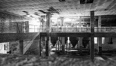 Lost Place III (bennibenniebenny) Tags: lostplaces fabrik fabrikhalle factory industrie industry hall lights shadows blackwhite
