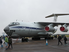 IL-76MD static display. (aitch tee) Tags: royalinternationalairtattoo riat2017 raffairford aircraft 4engine jet ilyushin il76md staticdisplay ukrainianairforce midas weather wet dull cloudy englanduk saturday15072017