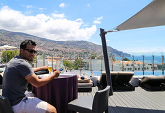 2017 SPM1582 Sam Duarte at rooftop of our hotel, The Vine in Funchal, Madeira, Portugal (teckman) Tags: 2017 funchal hotel madeira portugal samuelduarte pt